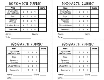 Research Rubric