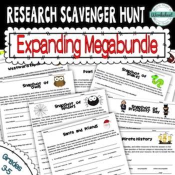 Research Scavenger Hunt Megabundle