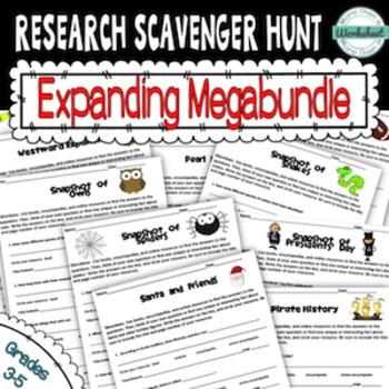 Research Scavenger Hunt Megabundle
