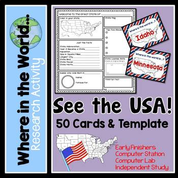 Research Project - See the USA!