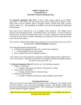 Research Simulation Task Introduction, Assignment, and Sample Writing