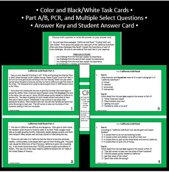 Reading Part A Part B Test, Task Cards RST 1- Nonfiction