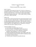 Research Simulation Writing Task for PARCC, LEAP, Standardized Tests Lesson