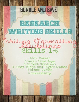 Research Skills 1-7 BUNDLE AND SAVE!