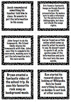 Research Skills Conversation Cards - Plagiarism Copyright Referencing