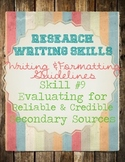 Research Skills: Evaluating Secondary Web Sources