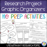 Research Skills Graphic Organizers and Printables