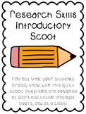Research Skills Introduction Scoot