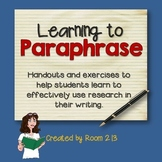 Research Skills: Learning to Paraphrase