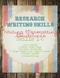 Research Skills: MLA Paper Format FREE