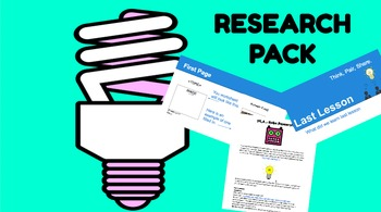 Research Skills Project Multi-lesson unit - adaptable