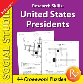 Research Skills: United States Presidents - Enhanced