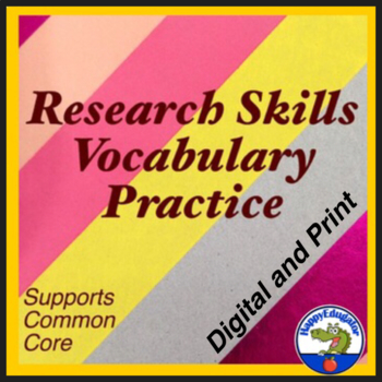 Research Skills Vocabulary Practice Worksheet