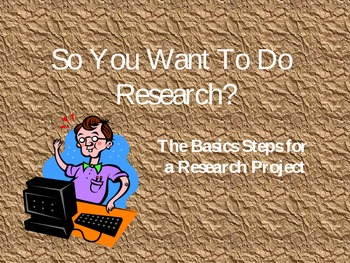 Research-So You Want To Do Research?