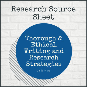 Research Source Sheet