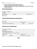 Research Source Sheet with Notes (MLA)