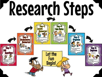 Research Steps for the Upper Grades