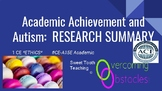 Research Summary - Academic Achievement