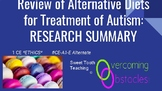 Research Summary - Alternative Diets BCBA ACE CE/Training