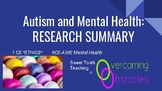 Research Summary - Autism & Mental Health BCBA ACE CE/Training