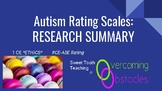 Research Summary - Autism Rating Scales BCBA ACE CE/Training
