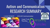 Research Summary - Communication