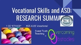 Research Summary - Vocational Skills & ASD