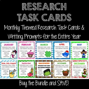 Research Task Card BUNDLE!