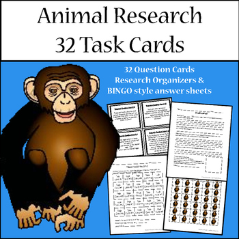 Animal Research Task Cards