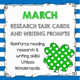 Research Task Cards - March