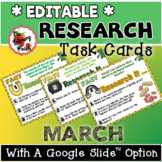 Research Task Cards for March