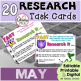 Research Task Cards for May