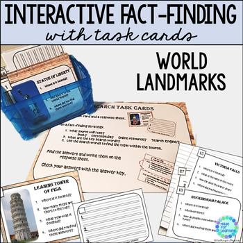 Research Task Cards for Library or Classroom: World Landmarks