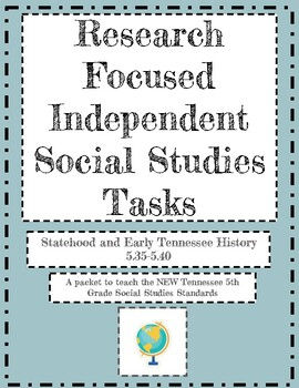 Research Tasks for the New 5th TN Social Studies Standards- Statehood/Early TN