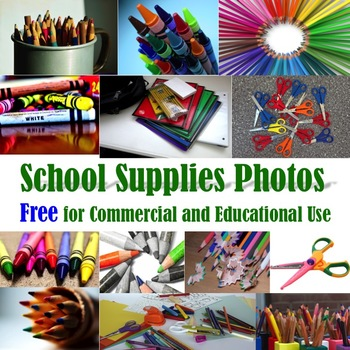 School Supplies Photos for Commercial & Educational Use