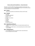 Research Project Template - Great Scientist