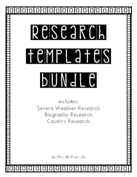 Research Templates Bundle