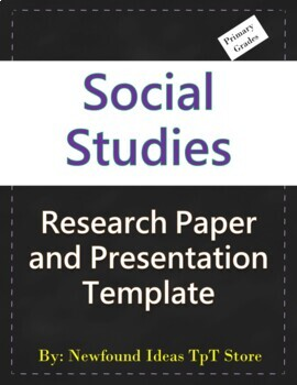 Research Templates Social Studies 1st Grade