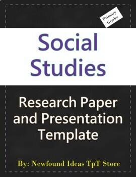 Research Templates Social Studies 1st Grade