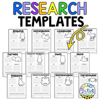 Research Templates for Third Graders (Animal Themed)