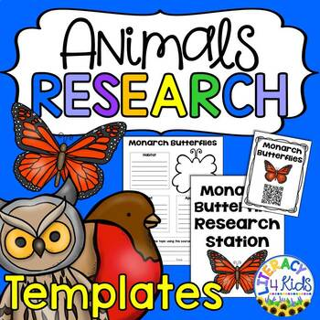 Animals Research Project Templates for Third Graders by Literacy 4 Kids