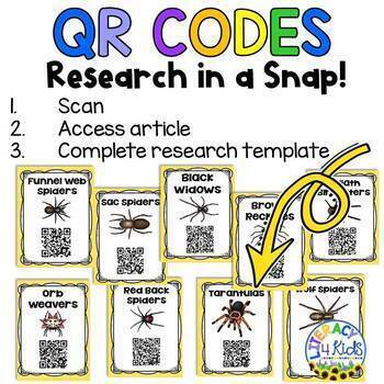 Research Templates for Third Graders (Spider Themed)