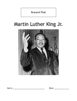 Research This! Martin Luther King Jr.