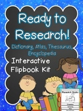 Research Tools Interactive Flipbook -Dictionary, Atlas, Encyclopedia, Thesaurus