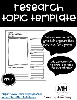 Research Topic Template - FREE
