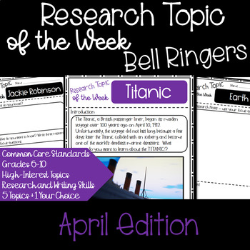 Research Topic of the Week - April Edition