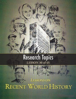 world history topics to research