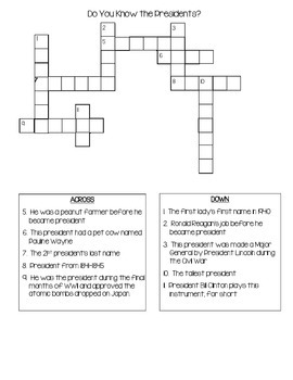 Research Trivia Crossword Puzzles