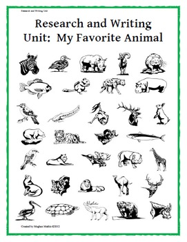 Research Unit: My Favorite Animal