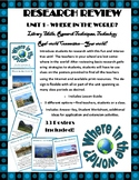 Research Unit: Where in the World? Scavenger Hunt Activity